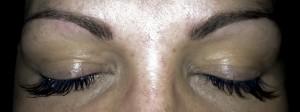 Taffy, permanent makeup,före och efter