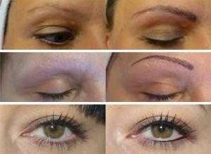 taffy permanent makeup, före och efter bilder